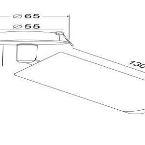 Схема Встраиваемый светильник на штанге C037CL-01G в стиле модерн