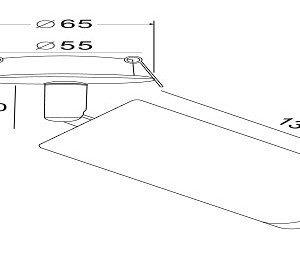 Схема Встраиваемый светильник на штанге C037CL-01W в стиле модерн
