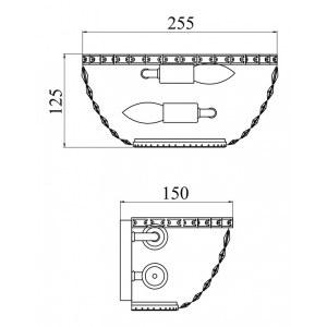 Накладной светильник Maytoni C100-WB1-N