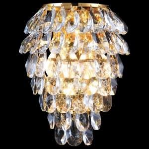 Настенный светильник Crystal Lux CHARME AP2+2 LED GOLD/TRANSPARENT
