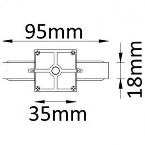 Схема Соединитель линейный для треков CLT 0.211 01 BL в стиле