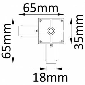 Схема Соединитель угловой L-образный для треков CLT 0.211 02 WH в стиле