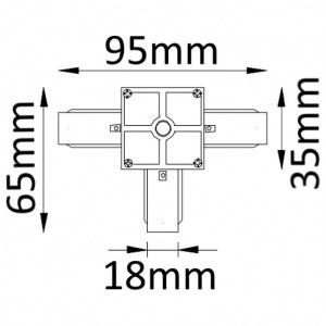 Схема Соединитель T-образный для треков CLT 0.211 03 WH в стиле