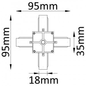 Схема Соединитель X-образный для треков CLT 0.211 04 BL в стиле