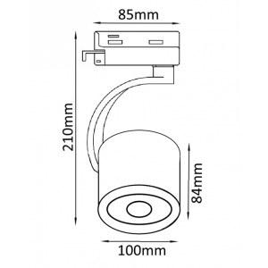Схема Светильник на штанге CLT 0.31 004 BL в стиле техно
