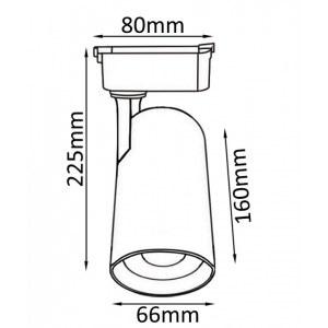 Схема Светильник на штанге CLT 0.31 006 20W BL в стиле техно