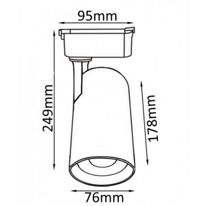 Схема Светильник на штанге CLT 0.31 006 30W BL в стиле техно