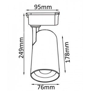 Схема Светильник на штанге CLT 0.31 006 30W WH в стиле техно