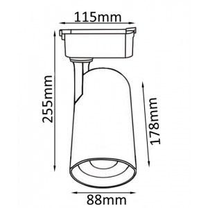 Схема Светильник на штанге CLT 0.31 006 40W WH в стиле техно