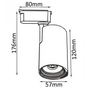 Схема Светильник на штанге CLT 0.31 007 10W BL в стиле техно