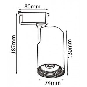 Схема Светильник на штанге CLT 0.31 007 20W WH в стиле техно