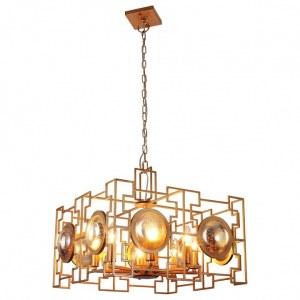 Фото 2 Подвесной светильник CUENTO SP8 GOLD в стиле модерн