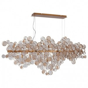 Фото 2 Подвесной светильник DESEO SP15 L1400 GOLD в стиле модерн