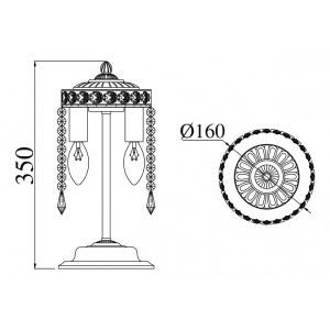 Схема Настольная лампа декоративная DIA750-WB11-WG в стиле классический