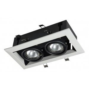 Фото 1 Встраиваемый светильник DL008-2-02-W в стиле техно