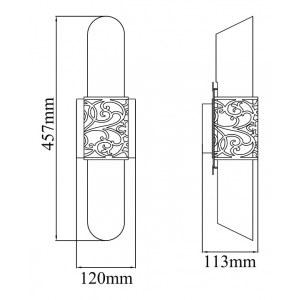 Накладной светильник Maytoni H260-02-N