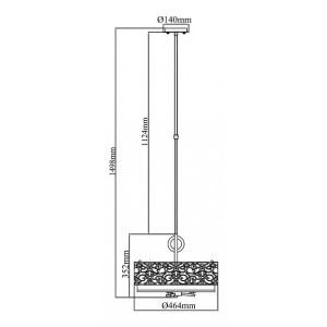 Схема Светильник на штанге H260-03-N в стиле модерн