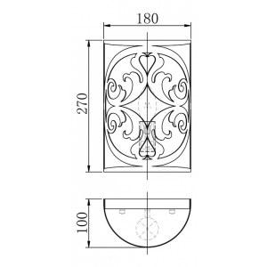 Схема Накладной светильник H899-01-R в стиле модерн