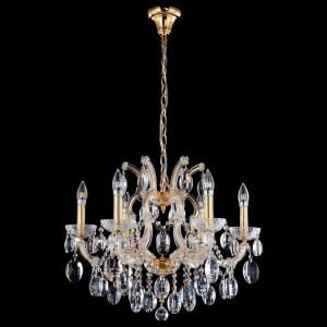 Фото 1 Подвесная люстра HOLLYWOOD SP6 GOLD в стиле классический