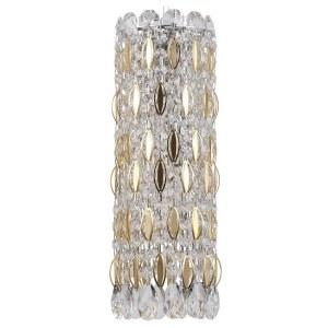 Фото 1 Подвесной светильник LIRICA SP3 CHROME/GOLD-TRANSPARENT в стиле модерн