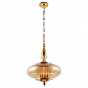 Фото 1 Подвесной светильник MIEL SP4 GOLD в стиле модерн