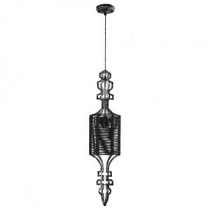 Фото 2 Подвесной светильник PRIMA SP1 B BLACK-SILVER/BLACK в стиле модерн