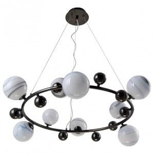 Фото 2 Подвесная люстра SALVADORE SP9H BLACK CHROMIUM в стиле модерн