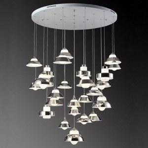 SL345.103.25 Светильник подвесной ST-Luce Белый/Белый, Хром LED 25*5W