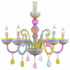SL672.783.06 Люстра подвесная ST-Luce Разноцветный/Разноцветный E14 6*40W