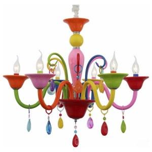 SL672.963.06 Люстра подвесная ST-Luce Разноцветный/Разноцветный E14 6*40W