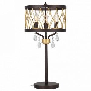 SL789.424.03 Настольная лампа ST-Luce Темный кофе, Золото/Темный кофе, Золото, Прозрачный E14 3*60W