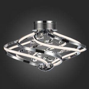 SL924.102.10 Люстра потолочная ST-Luce Хром, Прозрачный/Белый LED 1*72W