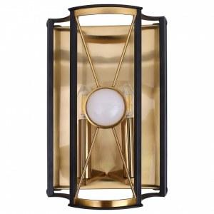 Фото 1 Накладной светильник TANDEM AP2 GOLD в стиле модерн