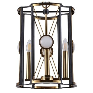 Фото 1 Подвесной светильник TANDEM SP4 D410 GOLD в стиле модерн