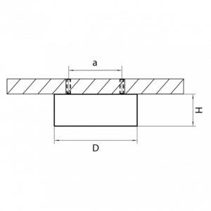 Схема Накладной светильник 003351 в стиле техно
