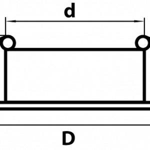 Схема Встраиваемый светильник 010013 в стиле техно