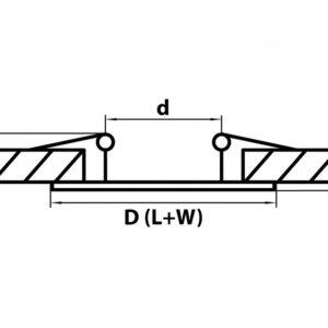 Схема Встраиваемый светильник 010037 в стиле техно