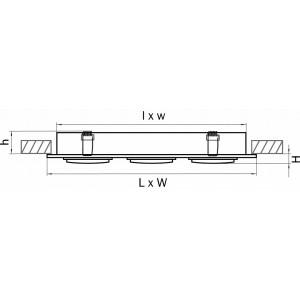 Схема Встраиваемый светильник 011603 в стиле техно