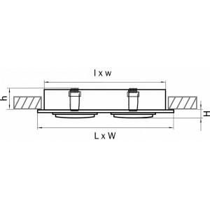 Схема Встраиваемый светильник 011614 в стиле техно