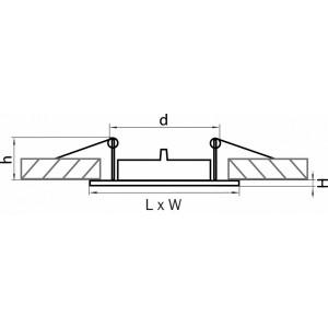 Схема Встраиваемый светильник 011941 в стиле техно
