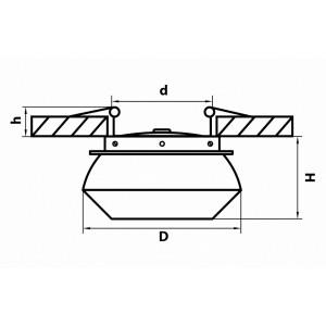 Схема Встраиваемый светильник 051307 в стиле техно