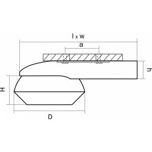 Схема Накладной светильник 051316 в стиле техно