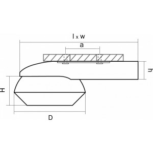 Схема Накладной светильник 051319 в стиле техно
