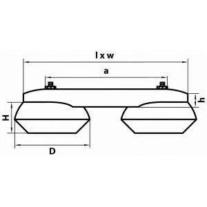 Схема Накладной светильник 051329 в стиле техно