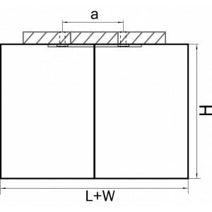 Схема Накладной светильник 052027 в стиле техно