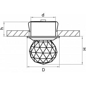 Схема Встраиваемый светильник 070102 в стиле модерн