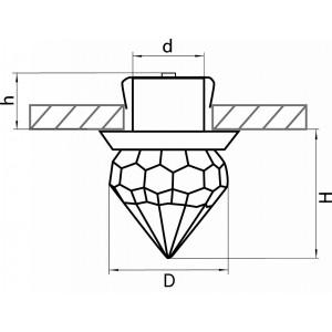 Схема Встраиваемый светильник 070162 в стиле модерн