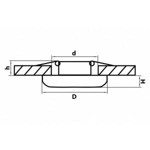 Схема Встраиваемый светильник 071034 в стиле техно