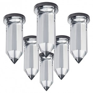 Фото 1 Комплект из 6 встраиваемых светильников 079064 в стиле техно