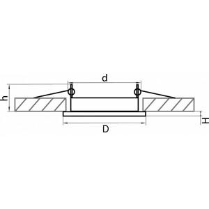 Схема Встраиваемый светильник 212111 в стиле техно
